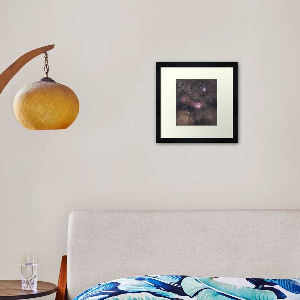 Lagoon + Trifid Nebulae Framed Art Print