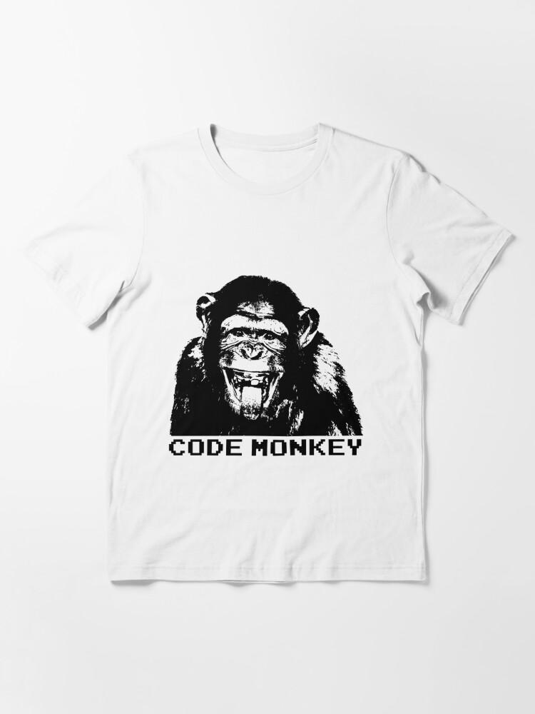 Alternate view of Code Monkey Essential T-Shirt