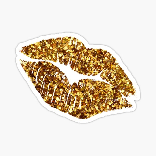 Glitter Lips!   Sticker