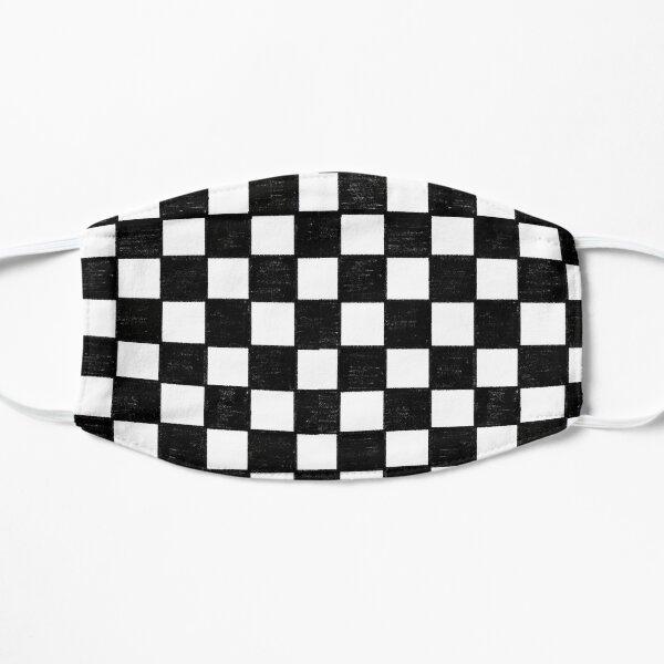 Black Checkerboard Print Flat Mask