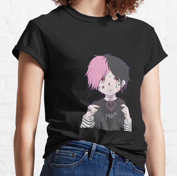 Lil peep anime Camiseta clásica