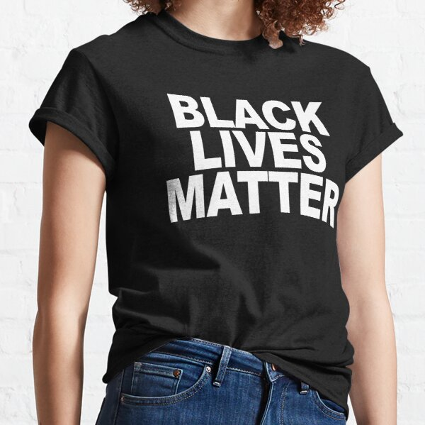 Stay Woke Black T-Shirt Lives Matter Protest Classic T-Shirt Comfortable t shirt Casual Short Sleeve