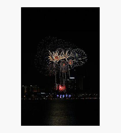 Perth Fireworks  Photographic Print