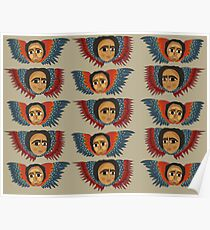 Ethiopian Angels Pattern Poster