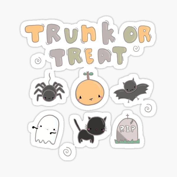 Halloween Trunk Or Treat Trick or Treat  Sticker