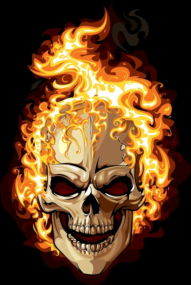 Fire Skull Ghost Rider by marviox