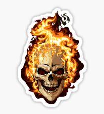 Pegatina Fire Skull Ghost Rider