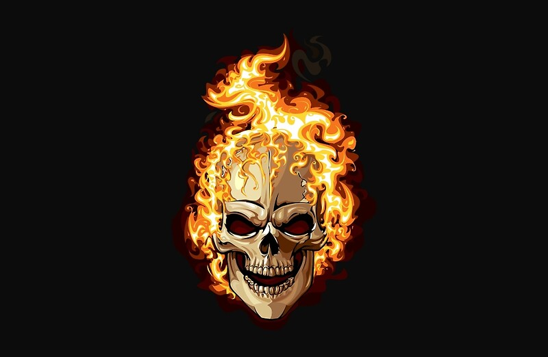 Fire skull ghost rider laptop skins by marviox redbubble fire skull ghost rider by marviox voltagebd Choice Image