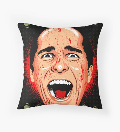 American Psycho Untouched Throw Pillow