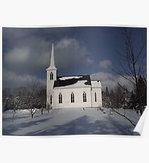 Lakelands Church in Winter Poster