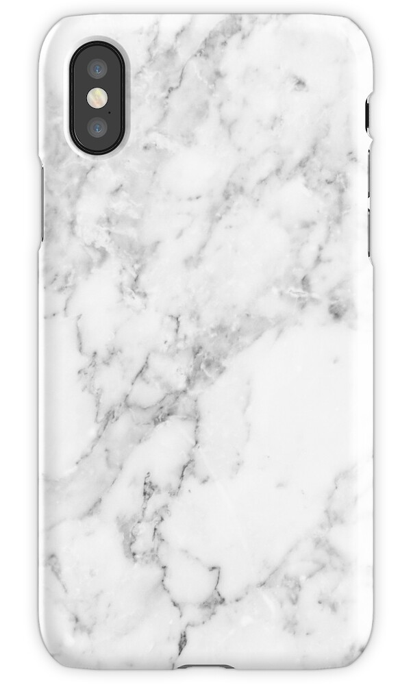 Quot White Marble Print Quot Iphone Cases Amp Skins By Emrapper