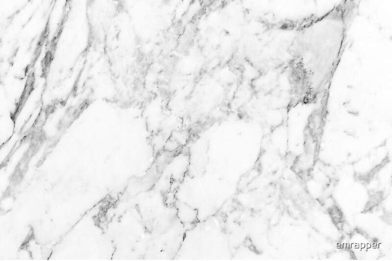 White Marble Print By Emrapper