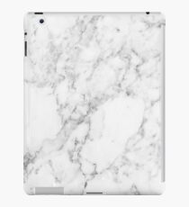 White Marble Print iPad Case/Skin