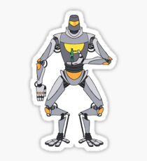 Diya Darzi & His Robot, Frog Sticker