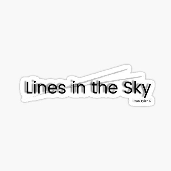 Lines in the Sky Sticker