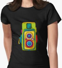 Vintage camera Womens Fitted T-Shirt