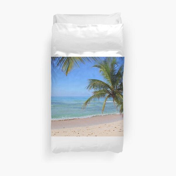 Tropical Caribbean Beach Duvet Cover