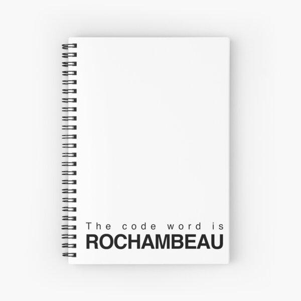 The code word is Rochambeau Spiral Notebook