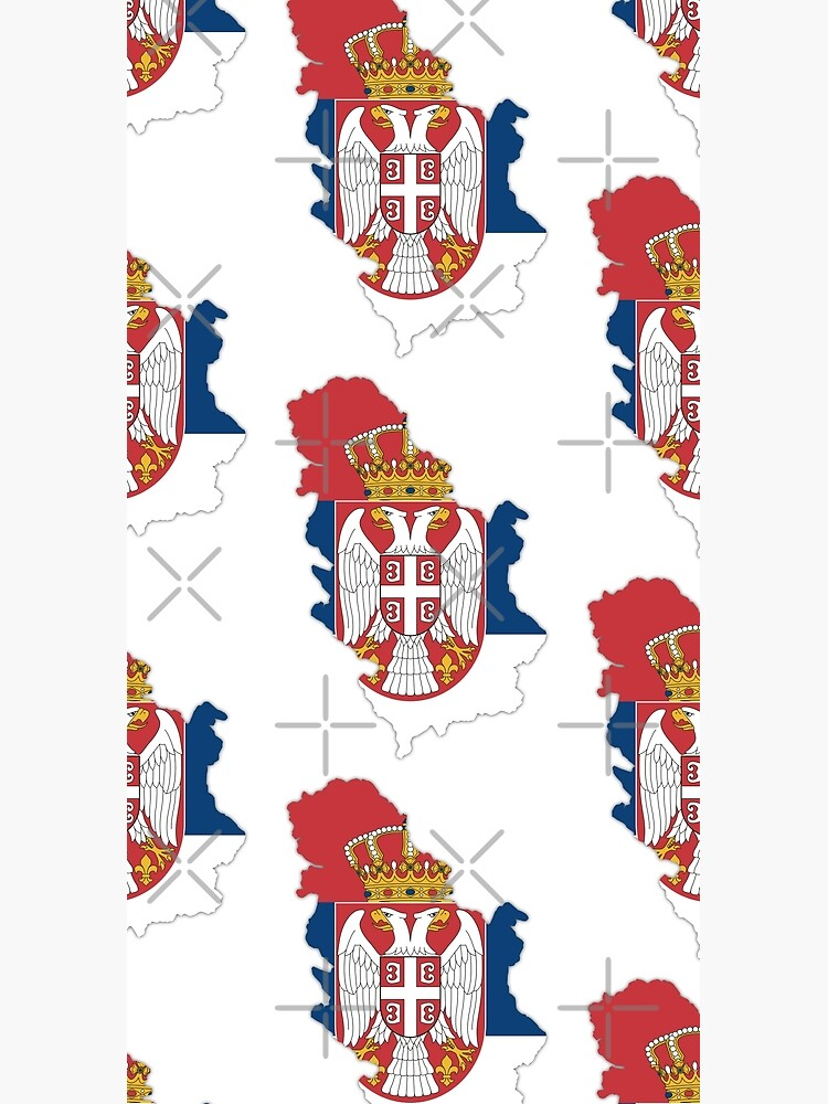Flag/ Map of Serbia by Vloo77