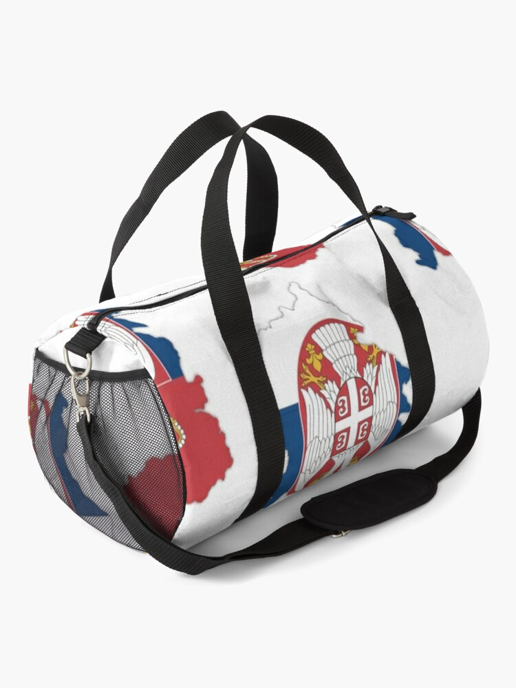 Alternate view of Flag/ Map of Serbia Duffle Bag