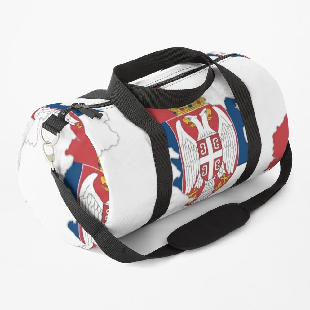 Flag/ Map of Serbia Duffle Bag