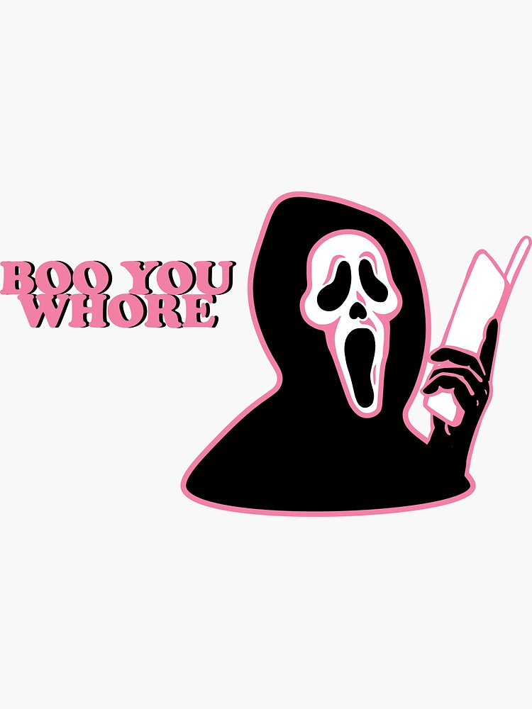 """BOO YOU WHORE"" Ghost Face by cuteviscera"