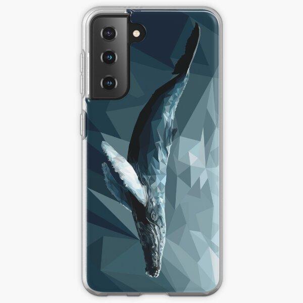 Geometric Low Poly Whale Samsung Galaxy Soft Case