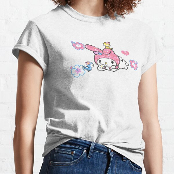 MY MUSIC BUNNY WEBCORE GLITTER KAWAII PINK JAPANESE LOLITA  Classic T-Shirt