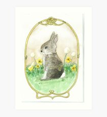 Clockwork Bunny Art Print