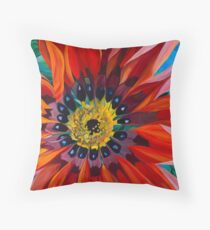 Sunburst Gazania Throw Pillow