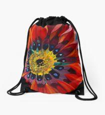 Sunburst Gazania Drawstring Bag