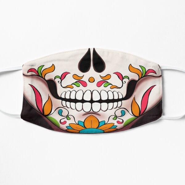 Máscara de catrina calavera de azúcar 1 Mascarilla plana