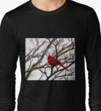 Winter Cardinal - Icy Tree T-Shirt