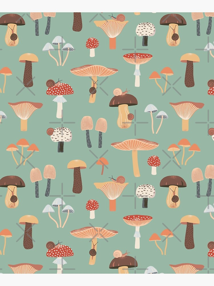 Mushrooms and Snails by nadyanadya