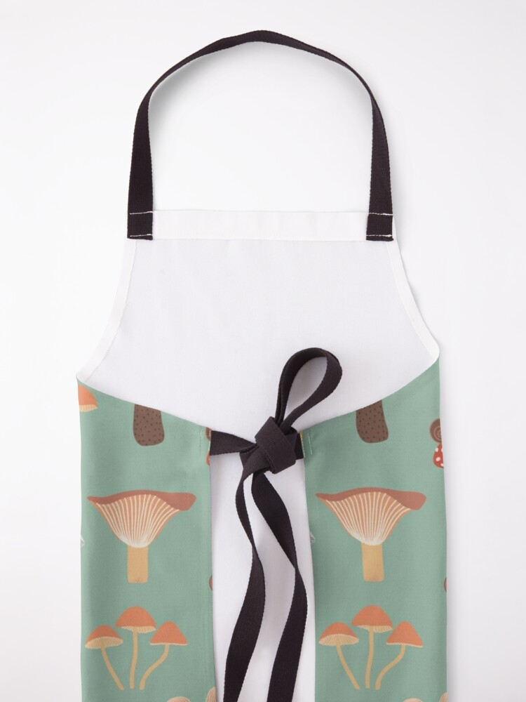 Alternate view of Mushrooms and Snails Apron