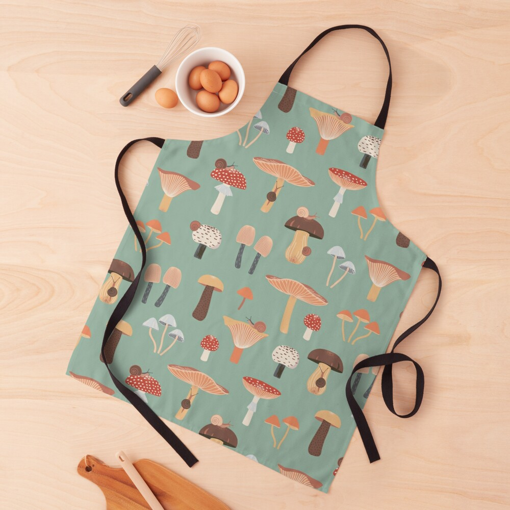 Mushrooms and Snails Apron