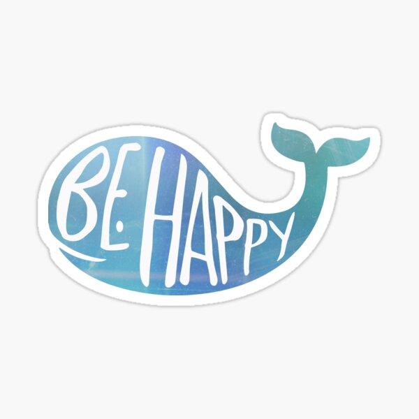 Baleine heureuse Sticker