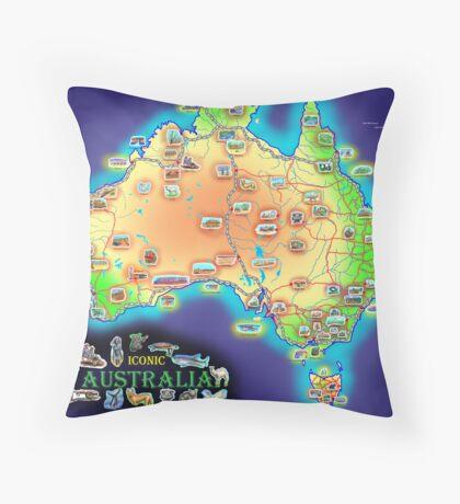 Iconic Australia Throw Pillow