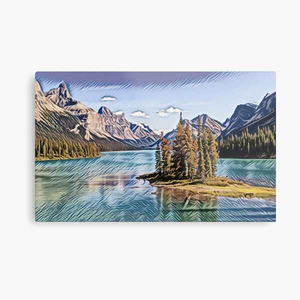 Spirit Island- Jasper National Park, Canada Metal Print