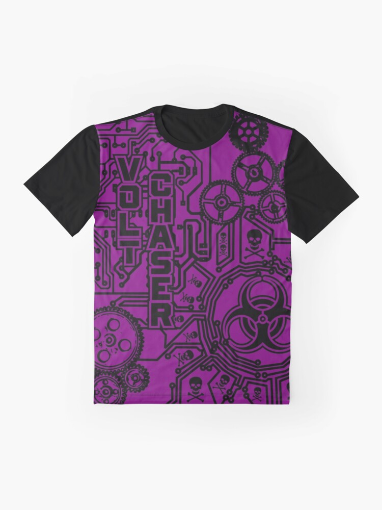 Alternate view of Volt Chaser (purple) Graphic T-Shirt