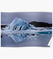 Glacier lagoon Poster
