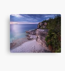 Georgian Bay Cliffs at Sunset art photo print Canvas Print