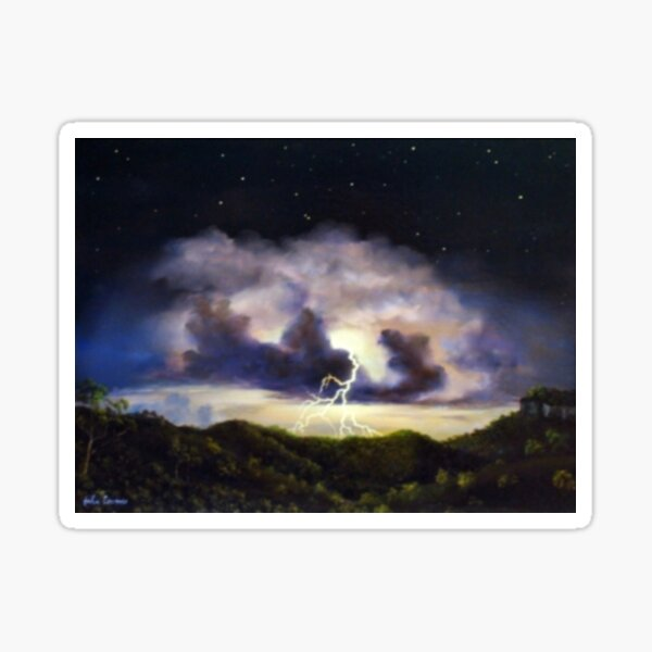 Night Thunderstorm Sticker