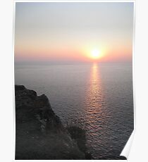 Sunset in Lefkada Poster