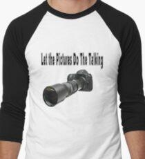 ♂ ♀ ∞ ☆ ★ PHOTOGRAPHERS APPAREL-Camera  With Telephoto Lense T-Shirt-JOURNAL,PILLOWS,ECT. ♂ ♀ ∞ ☆ ★ Men's Baseball ¾ T-Shirt