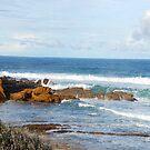 Panoramic ocean cliffs by Glen Johnson