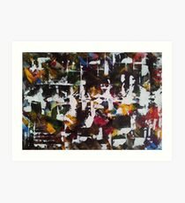 Abstract Ink and acrylic I Art Print
