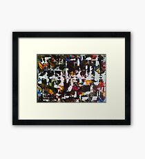 Abstract Ink and acrylic I Framed Print