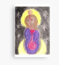 Diosa Maria del Corazon Sagrado  Metal Print