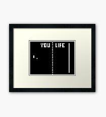 LIFE WINS Framed Print
